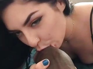 Biggest man dick - Girl gives blowjob to biggest black dick