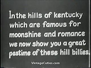 Xxx comics 1930-1950 - Hillbilly hunk fucks his new girlfriend 1930s vintage