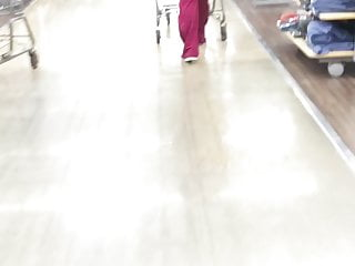Amateur cougar video clips Ghetto nut booty cougar walking thru walmart short clip