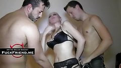 Kinky dude loves sharing his sexy wife with his best friend