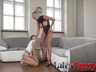 Lesbian kim posssible Kayla green and mona kim at latexpussycats