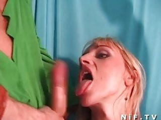 Tits french cum - French blonde gets sodomized and her big boobs cum covered