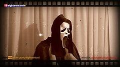 Милфу в одиночестве дома трахнул злоумышленник - секс на Хэллоуин