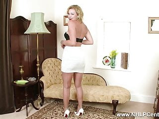 Vintage panty upskirts nylons garters glamour - Tasty blonde frigs herself off in nylons garters high heels