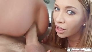 Incredible best friends threesome get anal creampie
