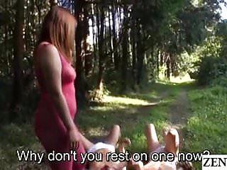 Bizarre bbw Jav star haruki satou bizarre outdoor facesitting subtitled