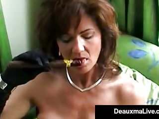 Nude women smoking cigars - Smoking hot cougar deauxma bangs her cunt ass with a cigar