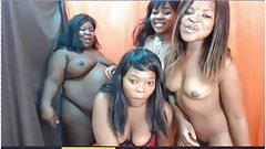 Chunky Black Latin Group in Webcam