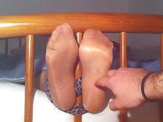 Her tongue on clit tickling nylon foot Tickling my girlfriend feet in nylon