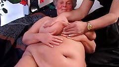 Gorgeous BBW tanny German granny with huge soft tits