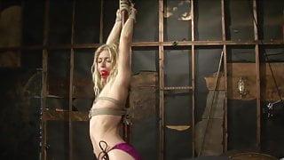 blond slave tied
