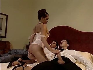 Two guys and a tranny Two guys and lingerie lady
