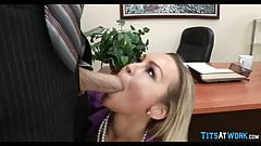 Getting it on with Big Tit Cougar at work