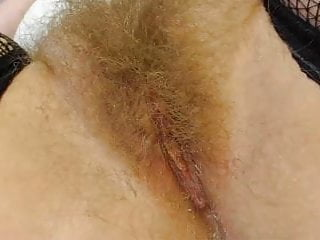 Hairy pusie - Hairy blonde pusy closeup
