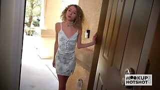 Skinny blonde teen Allie Addison goes on second date