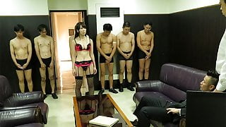 Handsome office gal Yui Hatano pussy drilled by her colleagu