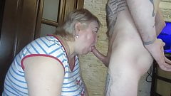 mother-in-law sucks my cock and gives me pleasure