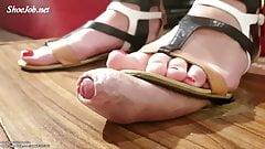 Sexy Sadistic Sophie-Pov Sandals Shoejob Cum Under My Sole