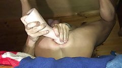 Fisting my Cunt with a rudder fist dildo