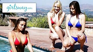 GIRLSWAY – Abigail Mac Teaches Lexi Luna To Be A Lifeguard