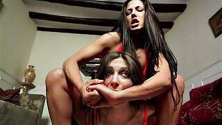 Talia Mint vs Alexa Thomas in a competitive female fighting