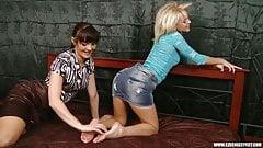 Jana Cova tickling 1