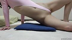 Sarina Kurokawa Extreme Wedgie in Pink Thong