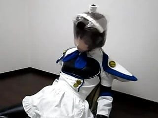 Breathplay latex - Kigurumi breathplay with vibrator