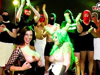 Gangbang cum sex videos German cum groupsex party with milfs and creampie user orgy