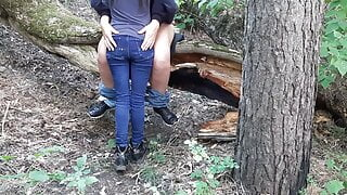 Peeped on sex in the forest with two lesbians - Lesbian-illusion