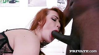 DPed Redhead Milf Isabella Lui Gets Fucked By 2 Big Black Dicks!