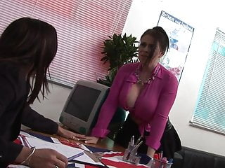 Hot chick sucking and fucking Hot chick with dd jugs fucks her boss and sucks his cock