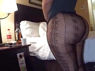 Hot see thru lingerie models Big ass milf teasing in see thru fishnets