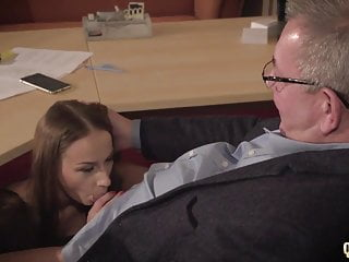 Dads women like to fuck Horny old boss fucks two young women