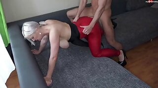 Cum in and on Heidi