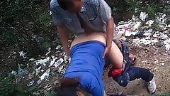 Chubby Asian Prostitute Doggy Style Outdoor