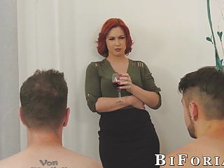 Gay colle Chad diamond and dante colle threeway fuck with redhead babe