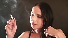 Brunette smokes s6