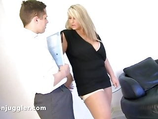 Saleswoman sex video Huge tits saleswoman face sits her dirty little man