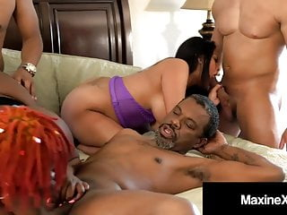 Interracial gangbang x videos Crazy asian maxine x gangbanged by 4 big black cocks 1 bbw