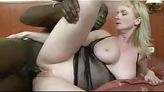 65 year old slut goes black