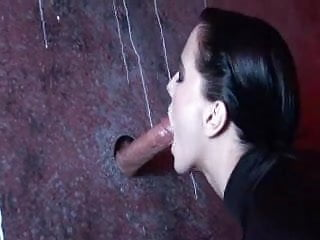 Girls deepthroating huge cocks - Aliz deepthroats three huge cocks in gloryhole