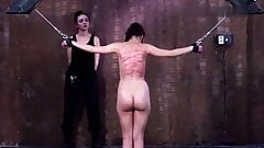 Woman back harsh whipping