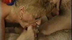 old swinger orgy, some bisex