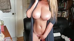 Very Busty Blonde Babe Maid Live