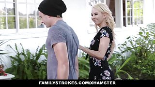 FamilyStrokes - Mom Bails Step Son Out To Fuck