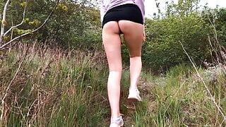 Risky outdoor sex near the lake