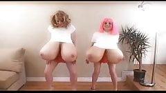 Holly & Bianca's Big Fake Tits