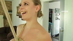 German babe tries bondage