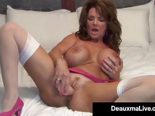Deauxma sex tubes Busty milf deauxma uses 4 inch anal plug dildo to squirt